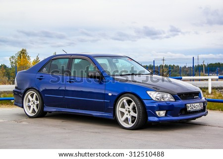 NOVYY URENGOY, RUSSIA - AUGUST 30, 2015: Motor car Toyota Altezza at the city street. - stock photo