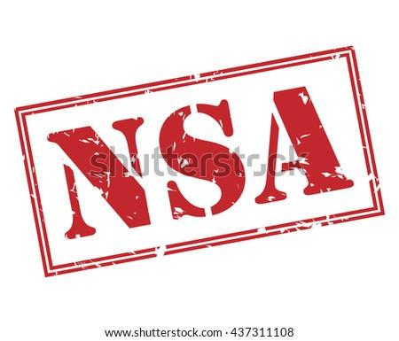 NSA stamp - stock photo