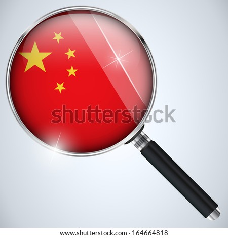 NSA USA Government Spy Program Country China - stock photo