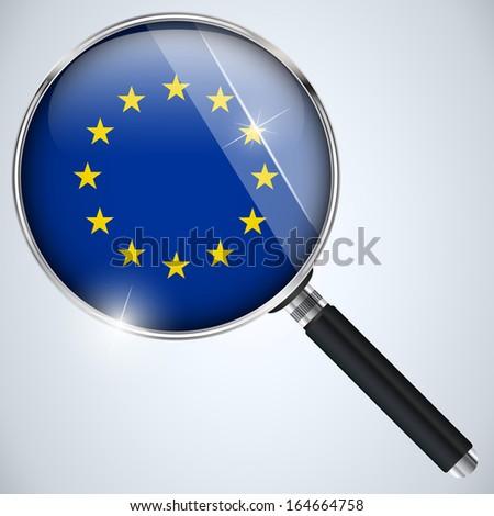 NSA USA Government Spy Program Country Europe - stock photo