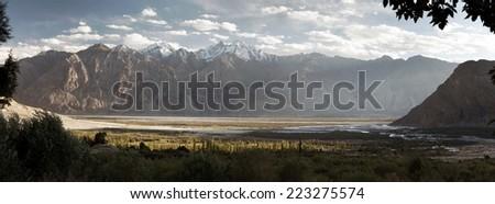 Nubra valley - Indian himalayas - Ladakh - Jammu and Kashmir - India  - stock photo