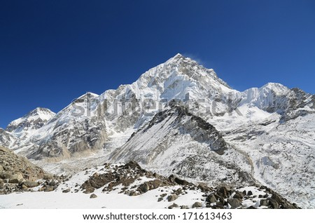 nuche summit beside of everest from kallapather summit nepal