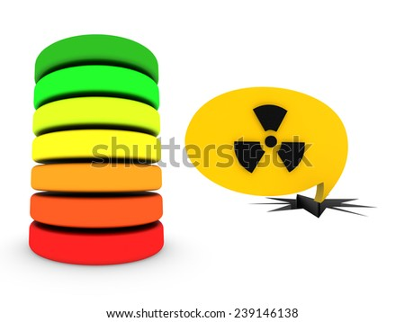 nuclear battery - stock photo