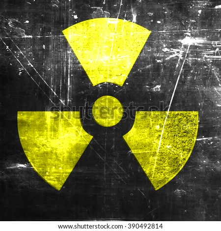 Nuclear danger background - stock photo