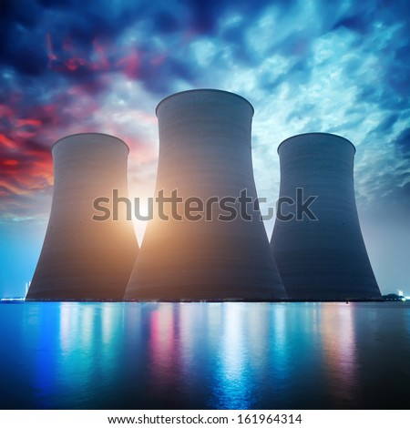 Nuclear energy - stock photo