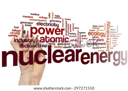 Nuclear energy concept word cloud background - stock photo