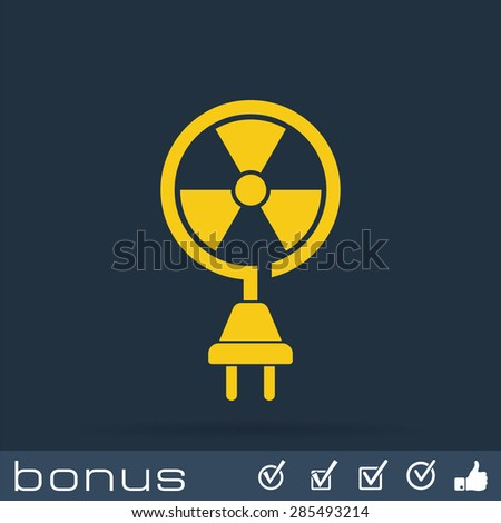 nuclear energy icon - stock photo
