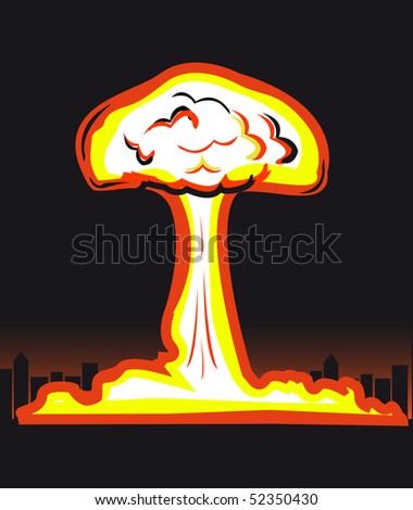Nuclear explosion (you can find the same vector illustration in my portfolio)