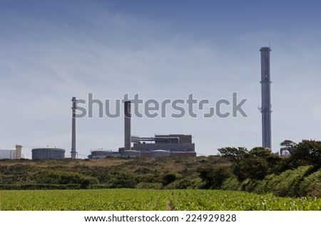 Nuclear fuel reprocessing plant - La Hague, Basse Normandy, France, Europe - stock photo