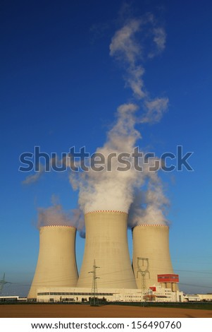 Nuclear plant Temelin / cooler towers