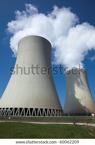 Nuclear plant Temelin, Czech republic - stock photo