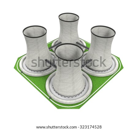 Nuclear Power Plant - stock photo