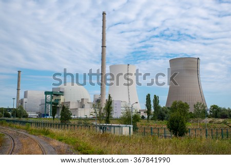 Nuclear power plant in Germany - stock photo