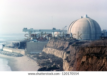 Nuclear Power Plant San Onofre, California - stock photo