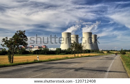 Nuclear power plant Temelin - stock photo