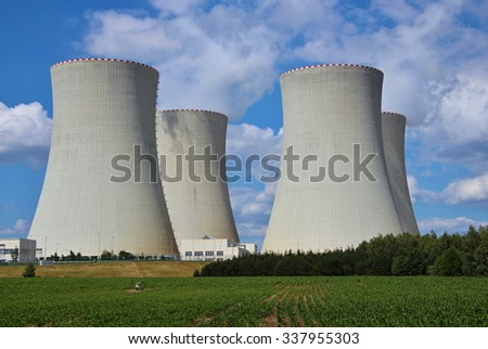 nuclear power plant Temelin, Czech republic, Europe