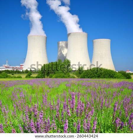 Nuclear power plant Temelin in Czech Republic, Europe - stock photo