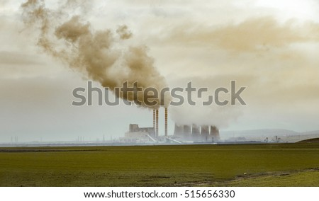 Nuclear power plant with contamination in rural area