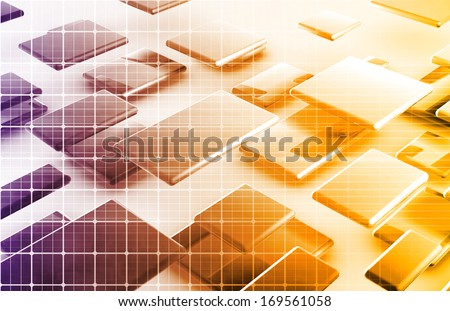 Nuclear Power Research and Modern Engineering Art - stock photo