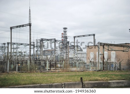 nuclear power station in Chernobyl, the fourth unit - stock photo