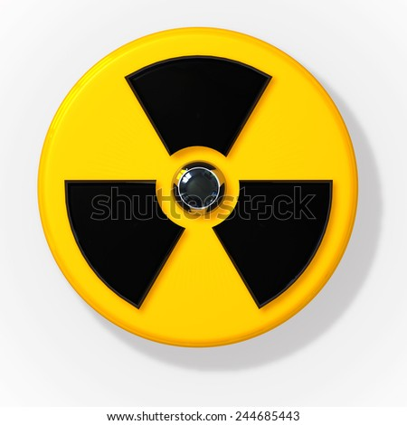 Nuclear radioactive radiation sign