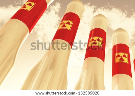 Nuclear Rockets - stock photo