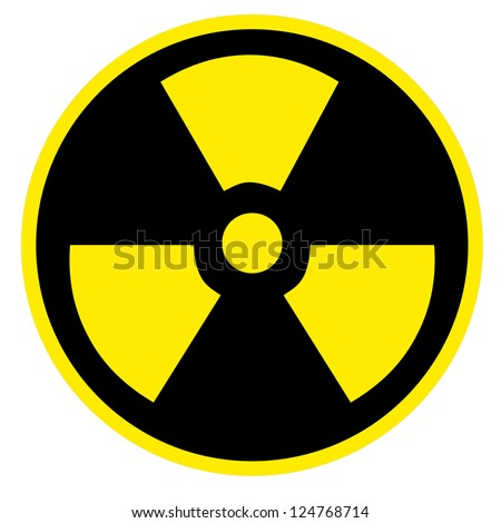 Nuclear sign representing the danger of radiation