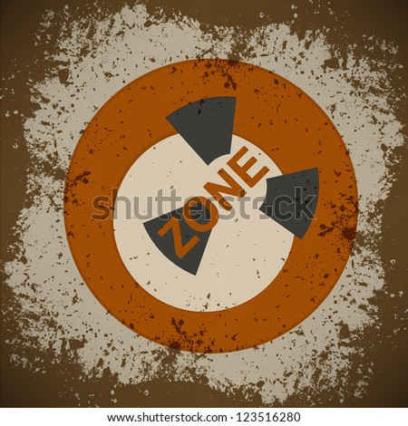 nuclear warning , grungy radiation sign - stock photo