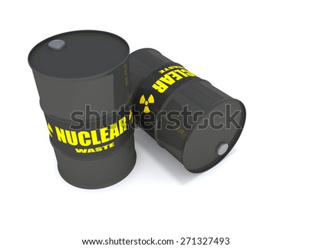 Nuclear Waste - 2 drums containing nuclear waste.