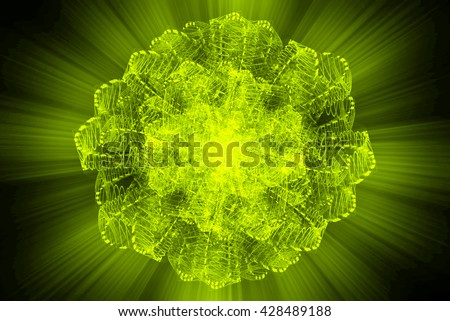 Nucleus of Atom Nuclear explode ray radiation light science concept abstract blur background. - stock photo