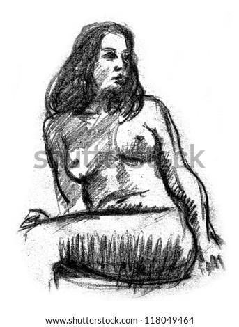 Nude - stock photo