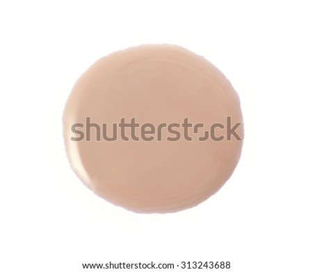 Nude color nail polish on background