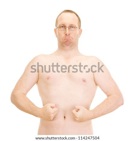 Nude upper part of a male body - stock photo