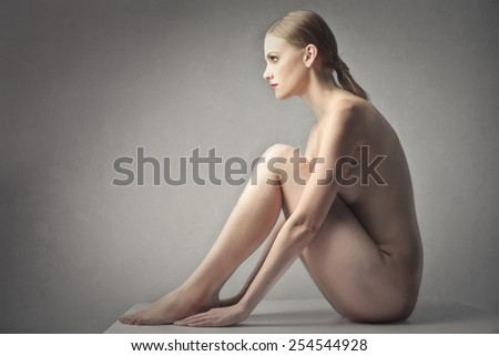 Nude woman  - stock photo