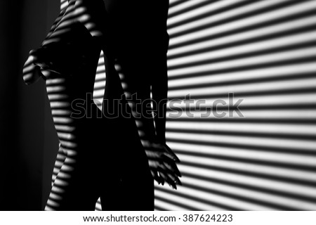 nude woman sexy Artistic black and white phot