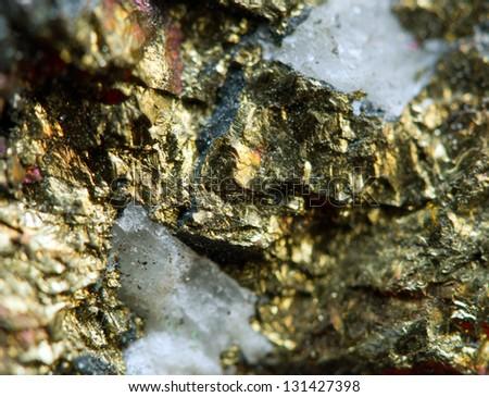 Nugget copper. Macro - stock photo