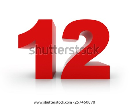 number 12 - stock photo