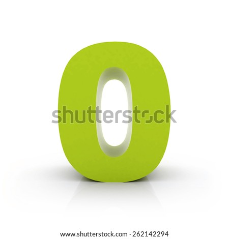 number 0 - stock photo