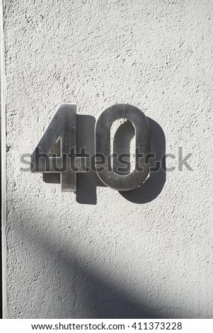 Number 40 - stock photo