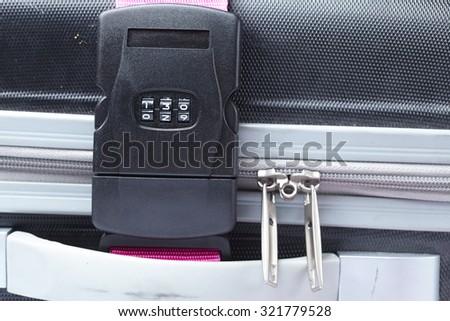Number combination padlock - stock photo