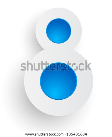 Number Eight - stock photo