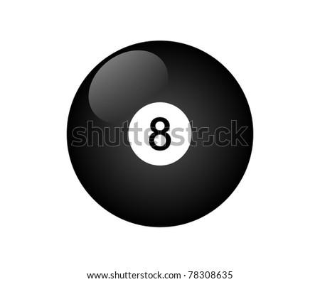 Number eight billiard ball - stock photo