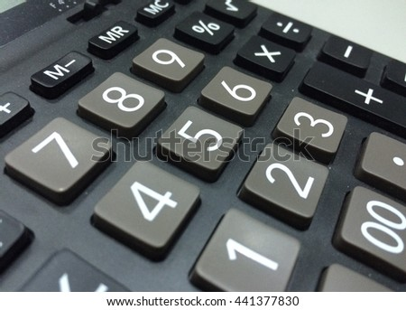 Number five on a calculator