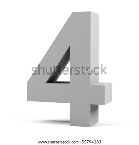 Number four on a white background.
