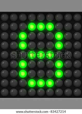 Number 8 from green creeping line alphabet - stock photo