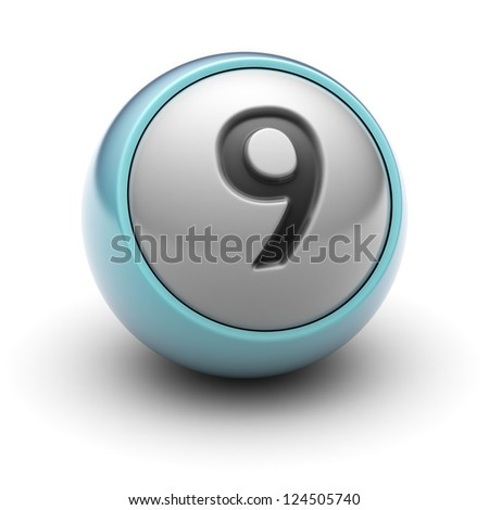 number 9  Full collection of icons like that is in my portfolio - stock photo