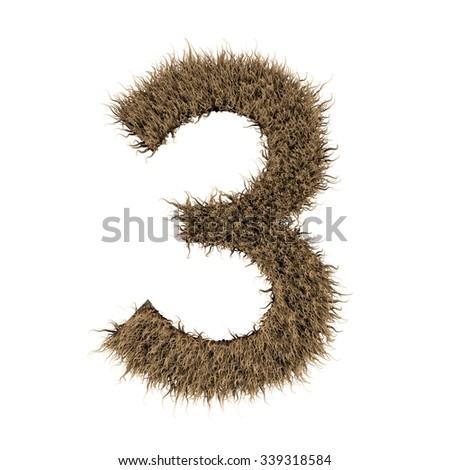 Number fur alphabet - stock photo