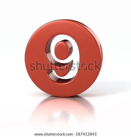 number 9 inside red circle