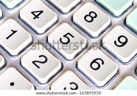 Number of calculator button - stock photo