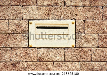 Number of house and mailbox - stock photo
